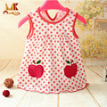 Monkids Hot Sale Summer Baby Girl Dress 0-1 Year Birthday Princess Infant Girl Dot Newborn Dresses Baby Girls Cutton Clothes