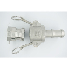 """1/2"""" to 2""""  Type C +A Camlock Coupling with Hosetail Shank Fitting  304 Stianless Steel  Homebrew Adaptor"""