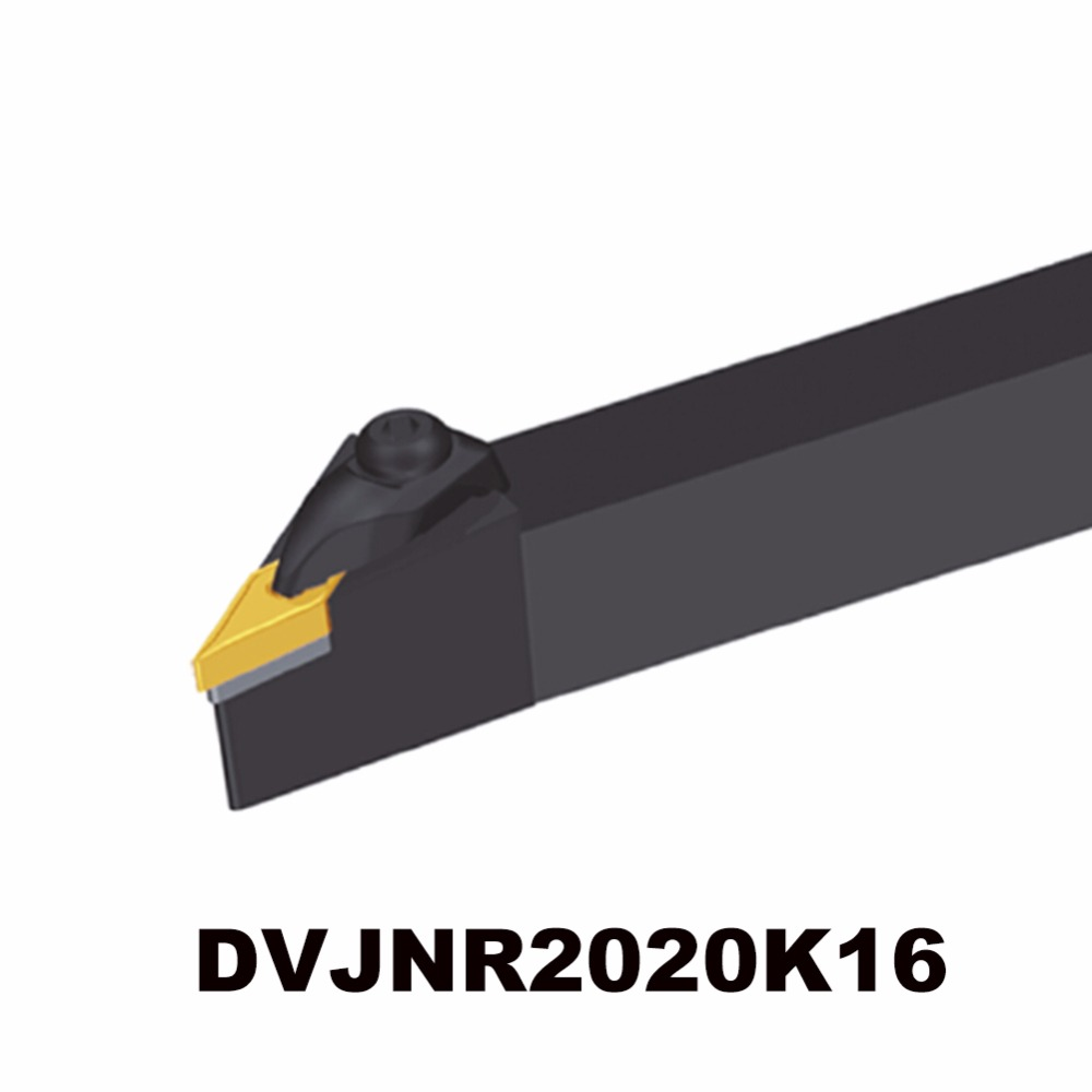 External turning tool holder DVJNR2020K16 tungsten carbide insert cnc tool shank right hand holder for insert V type 16 size c16q sclcr09 carbide turning tool holder diameter 16mm length 180mm use tungsten insert