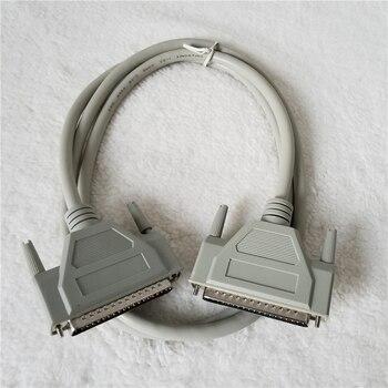 DB37 37Pin זכר לזכר מתאם נתונים הארכת כבל עבור וידאו צג מחשב טלוויזיה מקרן 1.5M לבן