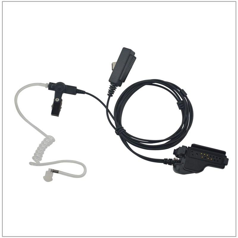 2-wire Air Acoustic Earpiece W/combined MIC & PTT For Walkie Talkie Motorola HT1000 XTS3000 MTS2000 MTX8000 GP1200 MT838