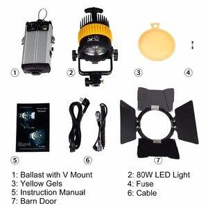 Image 5 - 80W LED wideo Spotlight dla fotografia studyjna kamera ciągłe oświetlenie Bi kolor 3200K/5600K ściemniacz V do montażu na MINI miękkie światło