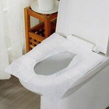 10 шт./упак. одноразовое покрытие на сиденье унитаза коврик туалет бумажный подкладка для путешествий походный Ванная комната Accessiories листы карман Размеры Flushab