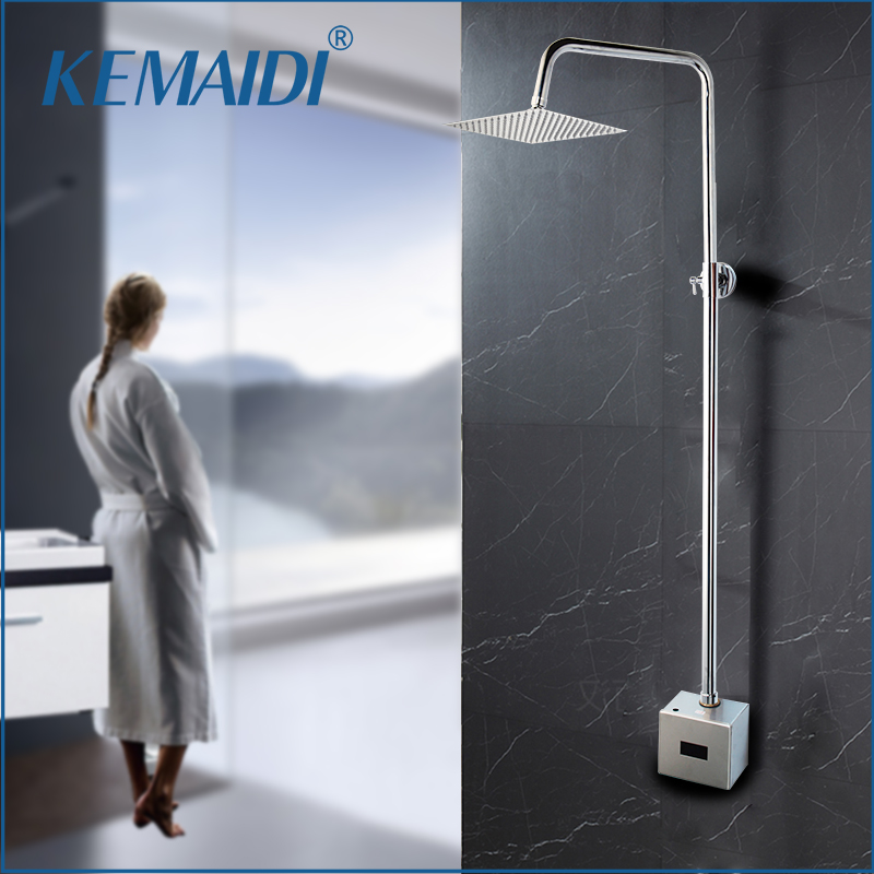 KEMAIDI Bathroom Automatic Infrared Shower Hands Touchless Free Faucet Sensor Tap Inductive Electric Shower Faucet Mixer