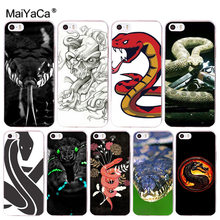MaiYaCa snake 2017New Luxury fashion cell phone case for iphone 11 pro X 66S 7 7plus 8 8Plus 5S XS XR XS MAX Cover(China)