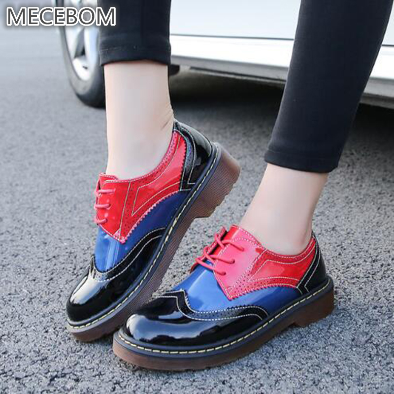 shoes women Platform Women's Oxfords spring Shoes Woman Flats Casual Vintage Shoes punk calzado mujer creepers footwear 1119W 2018 platform shoes woman thick heels oxford shoes for women patent leather creepers casual oxfords spring flats women shoes