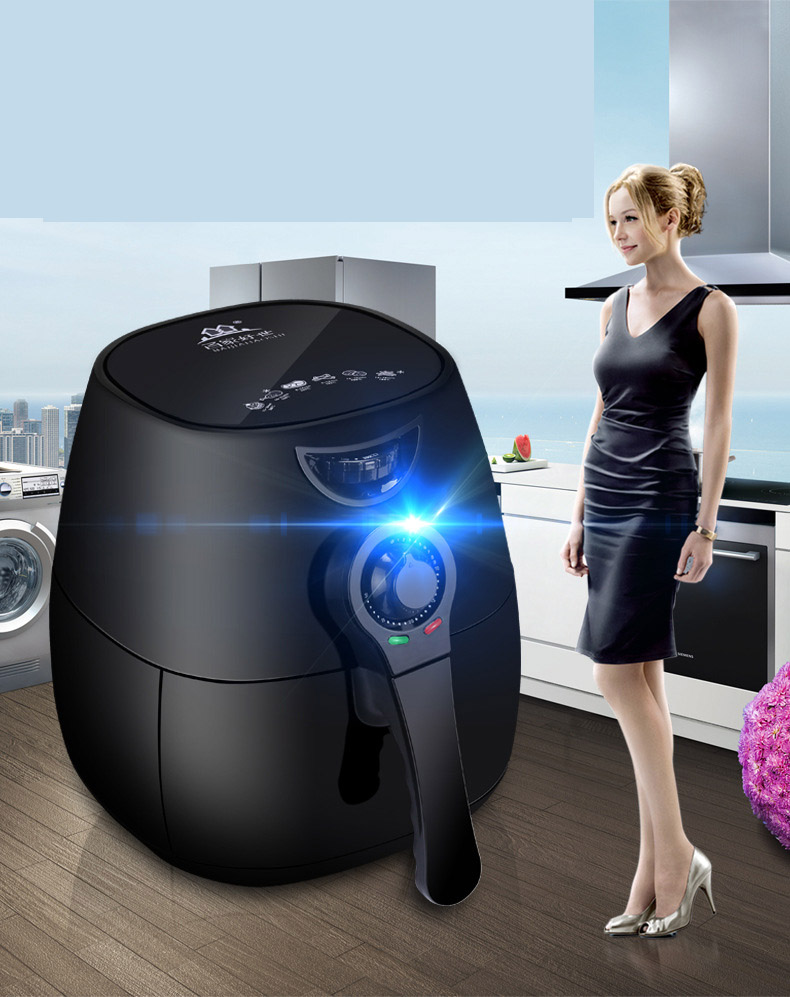Multicooker Home New Technology Electric Deep Fryer 2.5L Large Capacity Intelligent No Oil Fume Air Fryer Fries Frying Machine