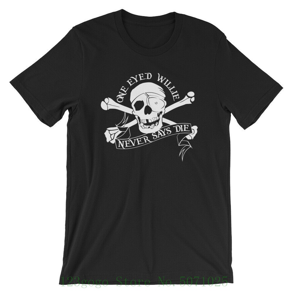 The Goonies Movie - One Eyed Willie Never Says Die T Shirt Cheap Crew Neck Youth's Top Tee image