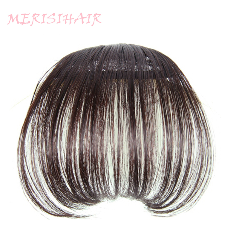 MERISI HAIR 4Color Clip In Hair Bangs Hairpiece Synthetic Fake Bangs Hair Piece Clip In Hair Extensions-in Synthetic Bangs from Hair Extensions & Wigs on Aliexpress.com | Alibaba Group