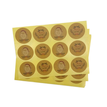 1200 unids/lote Kawaii Santa Claus redondo DIY pegatina sello multifunción etiqueta adhesiva de Feliz Navidad Regalo