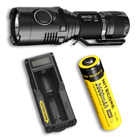 NITECORE MH20 Flashlight + 18650 Battery + UM10 Charger 1000 Lumens CREE XM L2 U2 LED USB Rechargeable MINI Torch Free Shipping