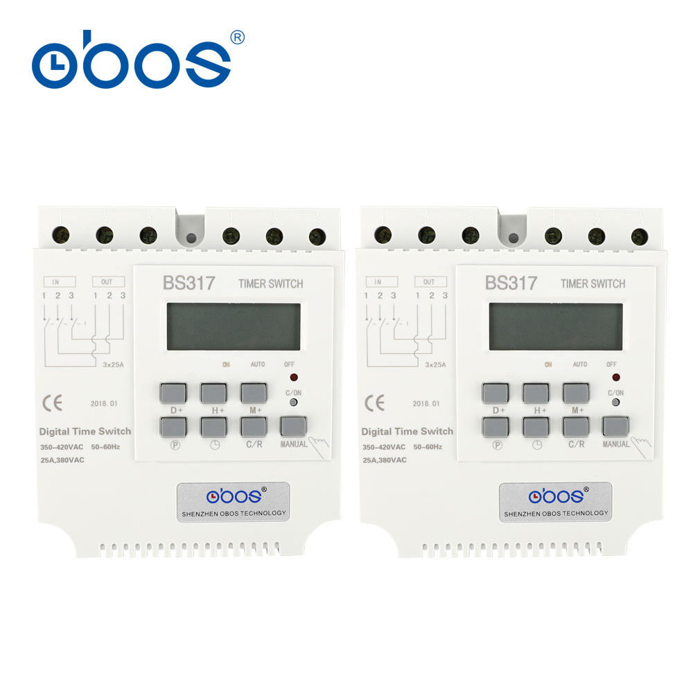 beautiful good quality good credit 380V 25A three phase timer switch electronic timer relay with 17 times on/off per day/weekly цены онлайн