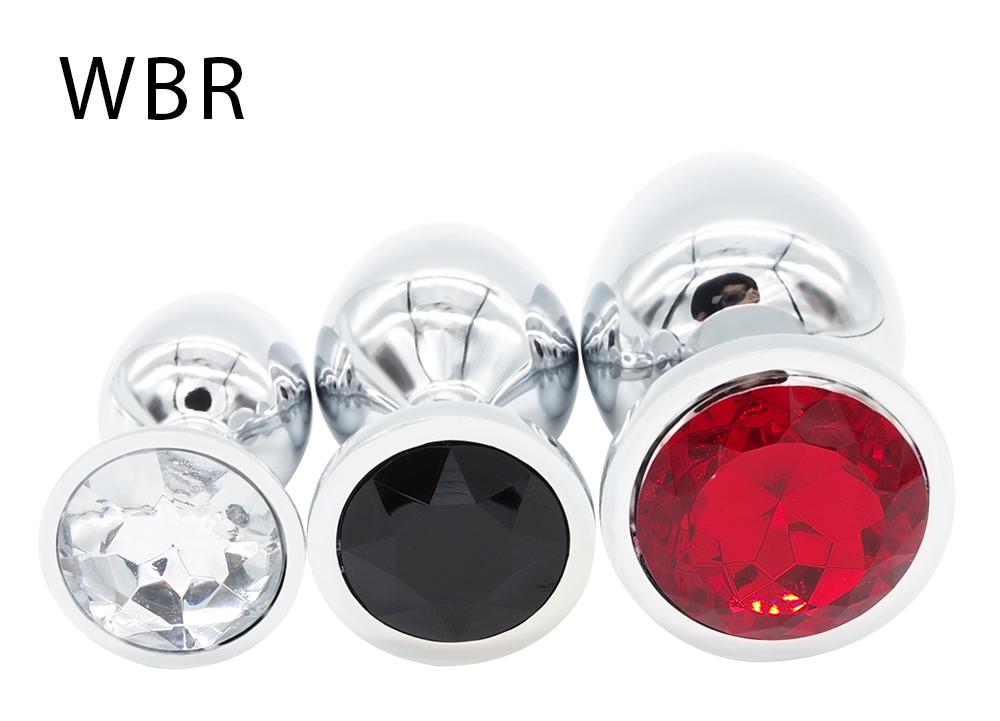 HTB13hNnSVXXXXaAXXXXq6xXFXXX2 Bejeweled Stainless Steel Butt Plugs - 3 size Combo Set For Men and Women