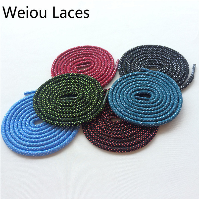 (100 Pairs/lot)Weiou Factory Wholesale Shoe Laces Dot Round Colorful Laces For Boost 350 Custom Design Shoelaces Kids Shoestring