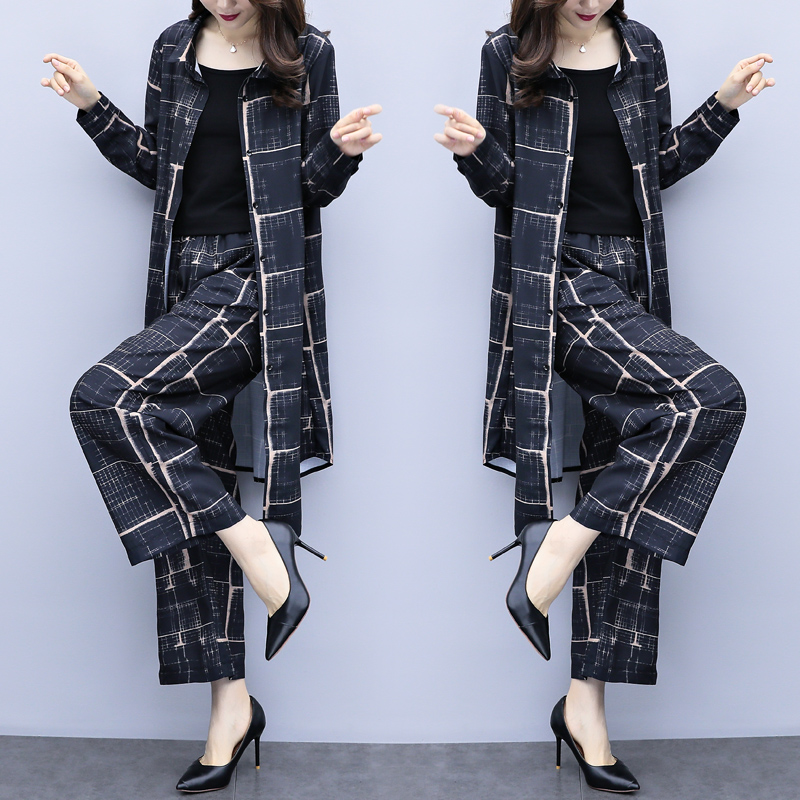Large Big Size Women 2 Piece Set Top And Pants Wide Leg Trousers Suit Set Elastic Waist Year old Female Costume Tracksuit