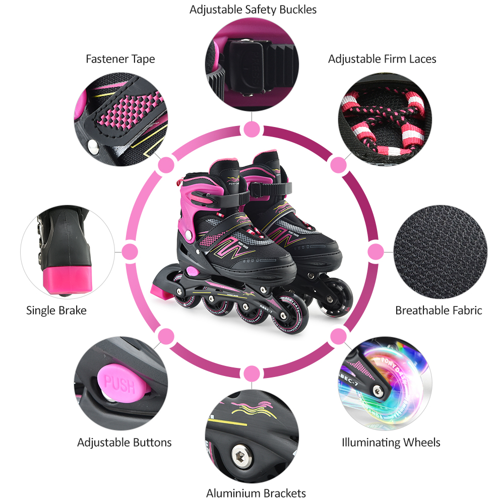 Adjustable Outdoor Inline Speed Skates Shoes Hockey Roller Skates Sneakers Rollers Kids Roller Skates For Adults Skates Inline