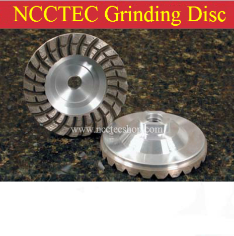 4'' Diamond Aluminum matrix sintered grinding disc | 100mm stone Turbo grinding CUP wheel with laser water groove 2 pcs super thin sintered diamond blade cutting disc for jade agate stone wet grinding with cooling water jgs031