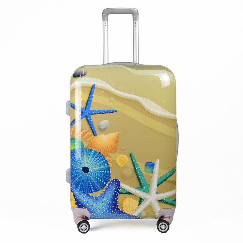 Women Underwater World prints Spinner Cartoons Men Trolley ABS PC Suitcase waterproof font b Luggages b