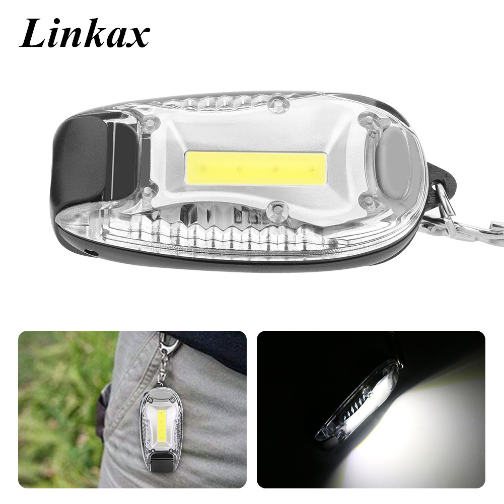 Lights & Lighting Led Lighting Cob Led Mini Keychain Flashlight Lamp Torch Led 3-modes On/off Mini Torch With Key Ring By 3xaaa For Key Finder Find Lost Keys
