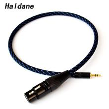 цена на Free Shipping Haldane 3.5mm Male to 3 pin XLR Female/Male Audio Adapter Cable 5N OFC copper HIFI XLR Audio Cable