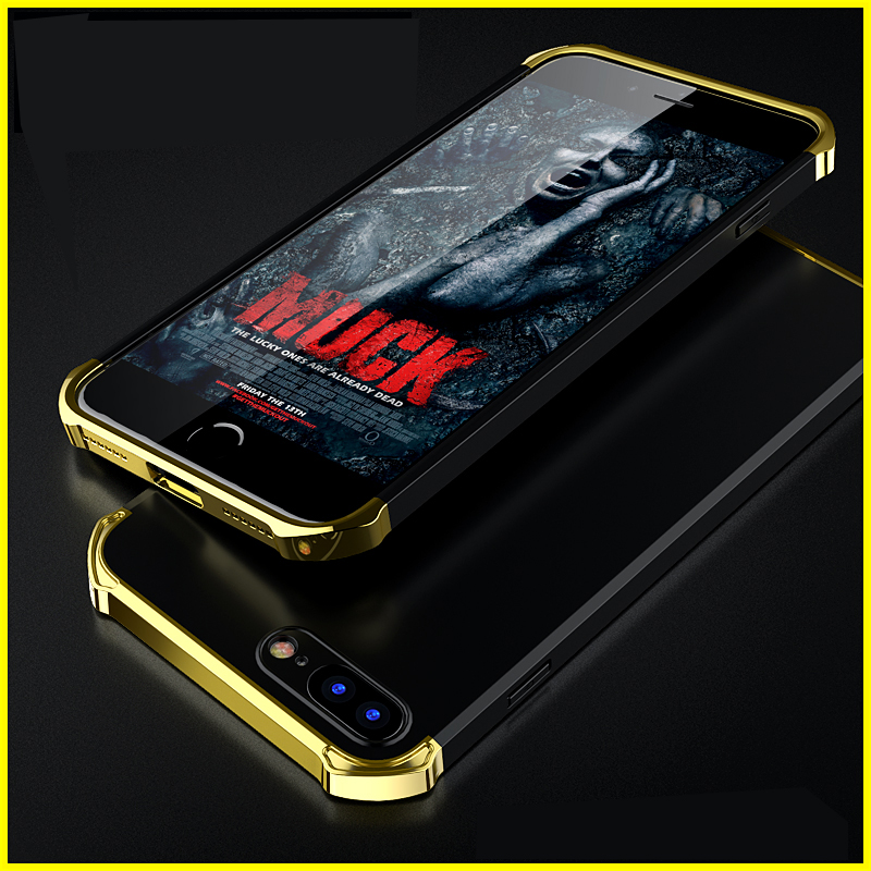 Anti Scratch Phone Shell Case For Apple Iphone 7 Plus Case Three Stage Splice Glossy Phone Case