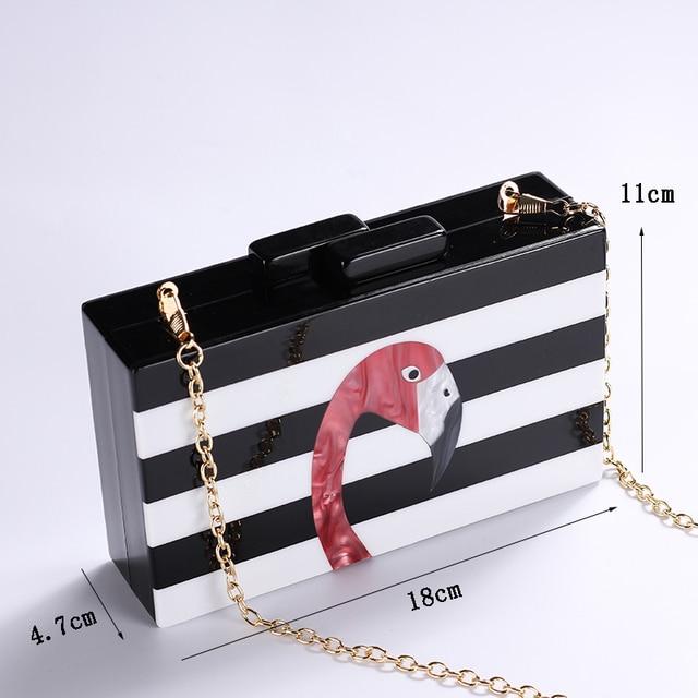 Acrylic Flamingo Pattern Women Messenger Bags 4