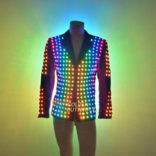 LED Clothing Vestidos Luminous Costumes Glowing LED Suits 2015 Fashion Clothes Show Men battery led costume Dance Accessories