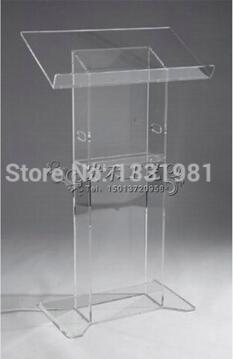 FREE SHIPPING Hot Selling Church Acrylic Podium/acrylic Lectern Modern Design Acrylic Lectern