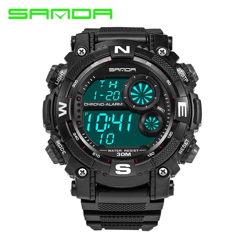 sanda 323 sports waterproof chronograph