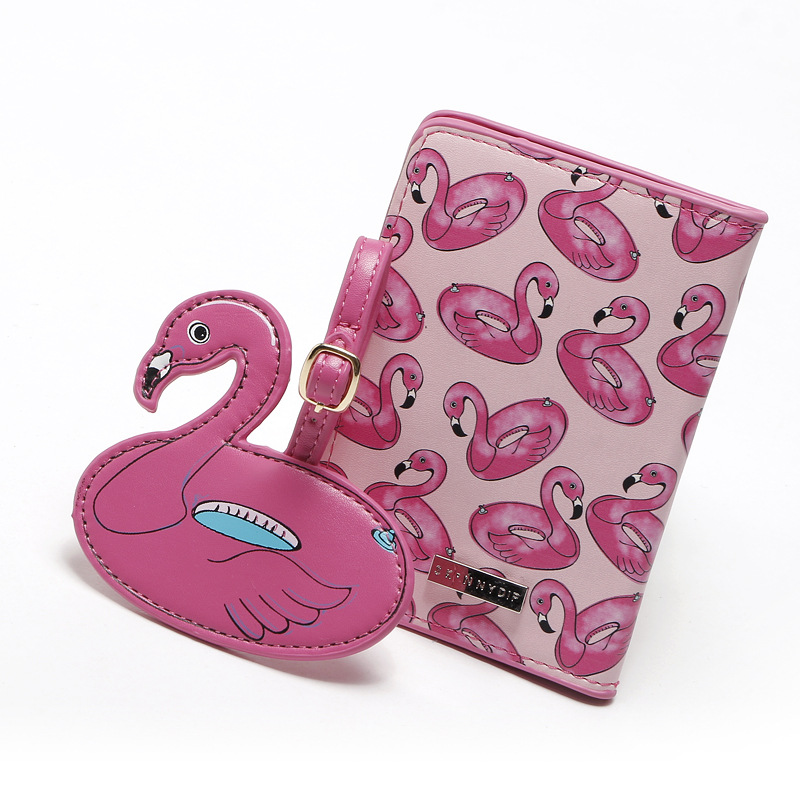 2017 New Hot Flamingos Animal Printed Passport Cover women passport holder card case for ...