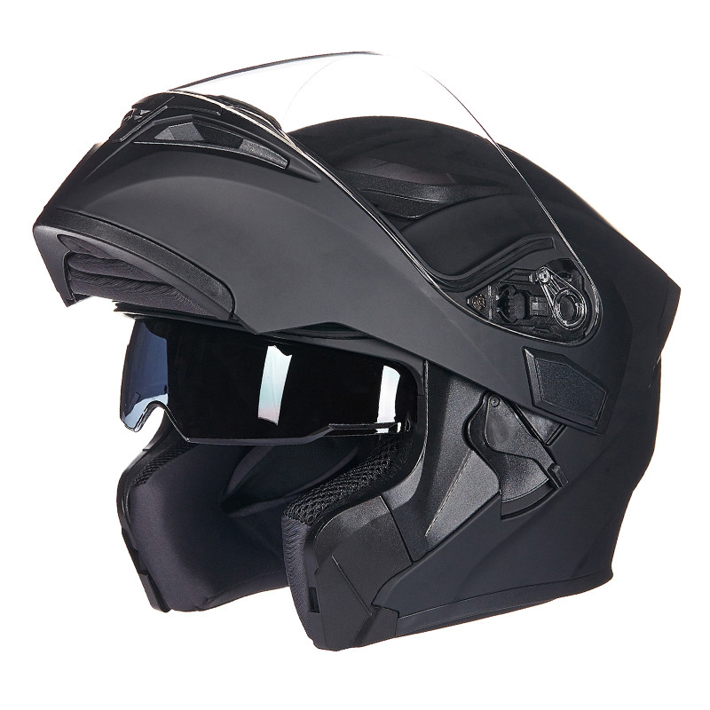 High Quality Flip Up Racing Helmet Modular Dual lens Motorcycle Helmet full face Safe helmets Casco capacete casque moto M L XL 1