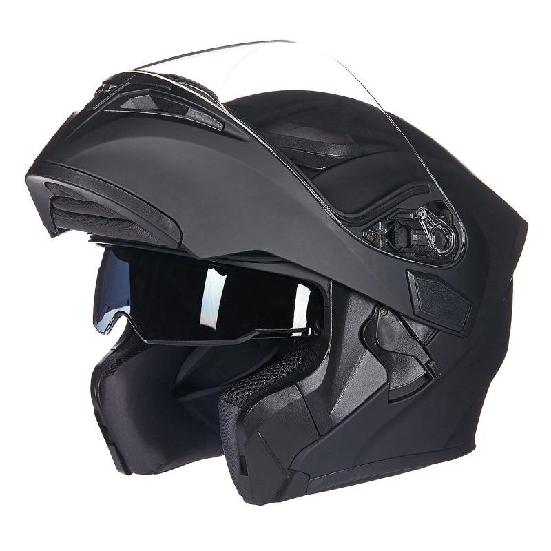 High Quality Flip Up Racing Helmet Modular Dual lens Motorcycle Helmet full face Safe helmets Casco capacete casque moto M L XL