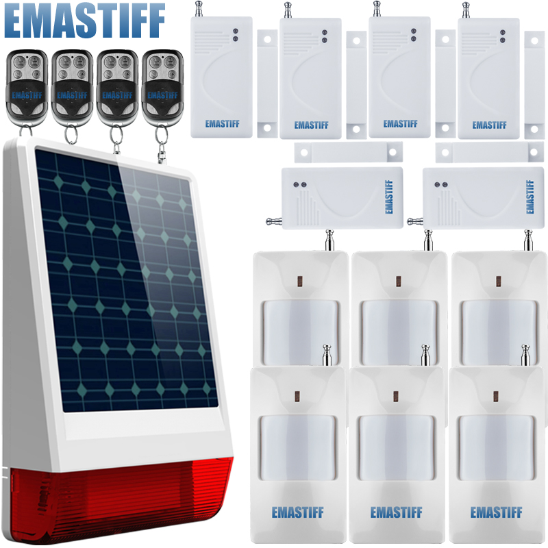 433MHz Wireless Indoor/Outdoor Solar Power Spot Alarm System with Siren/Flash and Internal Antenna better than gsm alarm system high quality solar spot alarm system kit 433mhz wireless outdoor siren with bright flash to make powerful warning