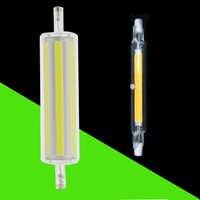 78mm 118mm R7S Led lámpara regulable 30W 50W J118 AC 220V 110V leds COB proyector reemplazar proyector halógeno R7S Lamparas sin parpadeo