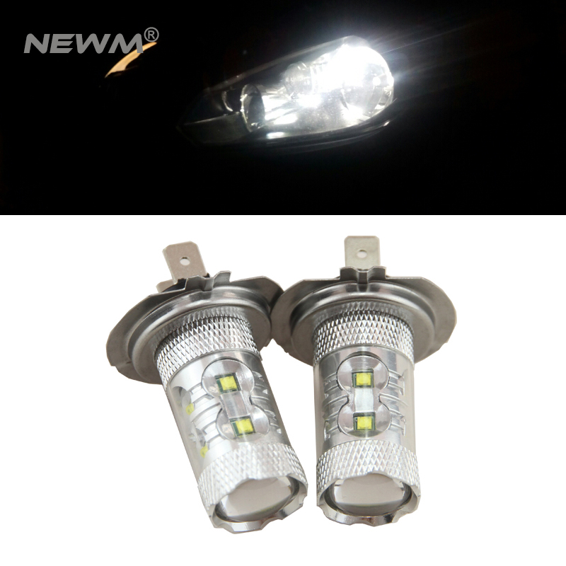 6000K LED H7 LED Bulbs For Hyundai Genesis Sonata Veloster Accent on High Beam Daytime Running Lights genesis genesis turn it on again the hits