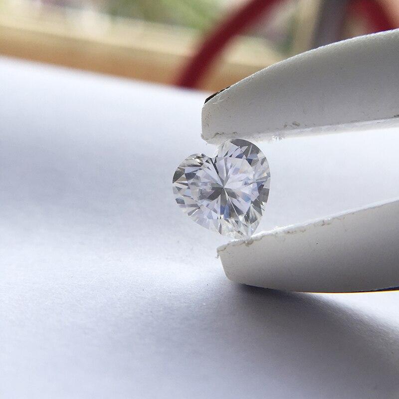 Coeur Brilliant Cut 6ct Carat 12mm F Couleur Moissanite Lâche Pierre VVS1 Excellente Cut Grade Test Positif Lab Diamant