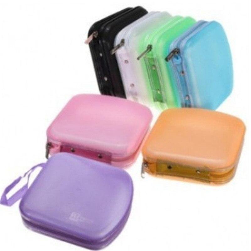 fashion 40 disc cd dvd storage case holder dj storage cover box case disc organizer wallet