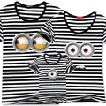 1pc 2016 New Family Matching Outfits Family Look Cotton T-shirt MINIONS printing For Summer 5Colors Dad&Mon&Sun&Daughter QZ014