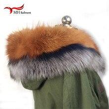 Gola De Pele de inverno 100% de Pele De Guaxinim Real Natural & Das Mulheres Lenços Lenços de Moda Casaco Camisola Gola Luxo Cap Pescoço L #93