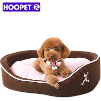 Cute Pink Cushion Puppy Dog Cat Sofa Bed Warm Polar Fleece Winter Pet Mat For Small