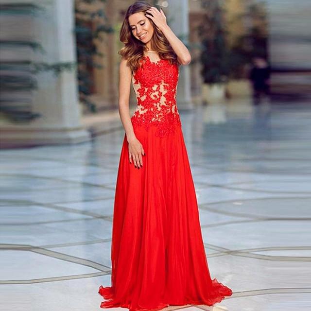 Imagenes de vestidos de noche en color rojo