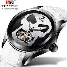 מותג גברים מכאני שעון TEVISE אוטומטי אופנה צבעוני פרט זכר ספורט שעונים שעון Relogio Masculino