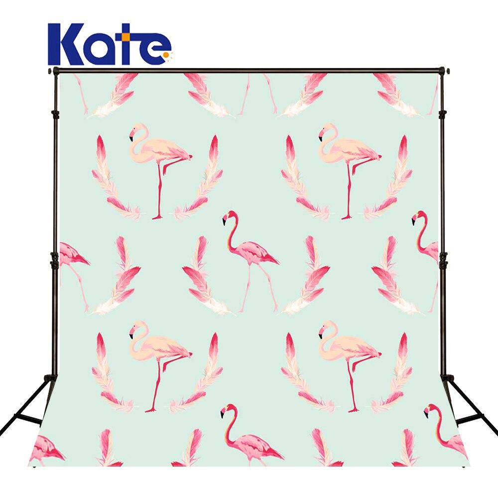 KATE Photography Backdrops Pink Flamingo Background Newborn Backdrop Naturism Children Photos Wedding Backdrops for Photo Studio kate photo background black and white striped backdrop wedding backdrops children photo background for photo studio