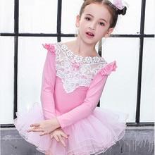 Для детей хлопок кружево профессиональная балетная пачка Купальник гимнастический костюм для девочек, танцевальные костюмы жилет юбка-пачка для малышей платье