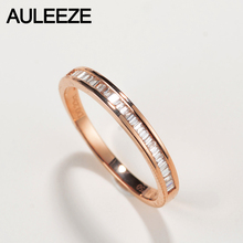 AULEEZE 0.23cttw Certificate Diamond Wedding Band For Women 18K Solid Yellow Gold Wedding Enternal Ring Real Diamond Jewelry