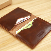 LAN Free Shipping Slim Card Case Credit Card Case Leather Credit Card Case Bank Card Case