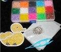 New Hama Perler Beads 15 Colors Set Kids DIY Fuse Beads Jigsaw Puzzle handwork Educational Toys for children girl Christmas Gift