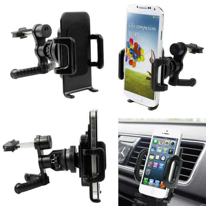 360 Graden Auto Air Vent Mount Cradle Holder Stand Voor Mobiele Smart Mobiele Telefoon Gps Drop Shipping