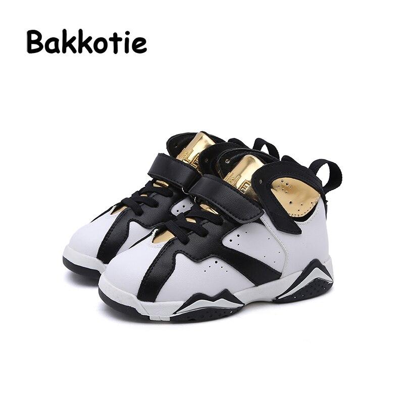 Bakkotie 2018 New Fashion Brand Child Boy Sport Shoe Baby Girl White Sneaker Toddler Trainer Shoe Kid Child Causal Trainer Flats