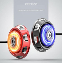 SPIRIT BEAST Motorcycle Accessories Warning Signs LED Lights Car Decoration Shape Body Reflective Card Motocross